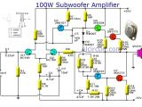 Amp and Capacitor Wiring Diagram Subwoofer Amplifier 100w Output with Transistor Subwoofer