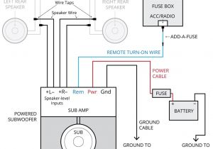 Amp Wiring Diagram Instructions Amplifier Wiring Diagrams How to Add An Amplifier to Your Car Audio