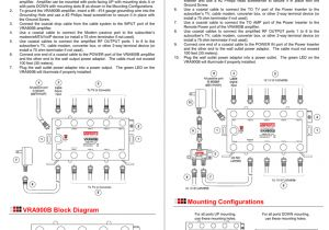 Amp Wiring Diagram Instructions Vra900b Amplifier Installation Instructions Material Requirements