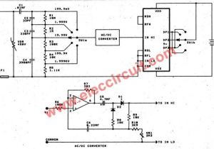 Analog Amp Meter Wiring Diagram Digital Multimeter Circuit Using Icl7107