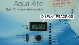 Aqua Rite Wiring Diagram How to Read and Adjust the Hayward Aqua Rite Scg Operational Values