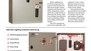 Asco Accessory 47 Wiring Diagram Emerson asco 641 Lighting Control Panel Brochures and Data Sheets