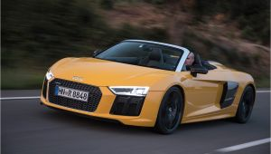 Audi R8 Gt Spyder toddler Car 2017 Audi R8 Spyder Instrumented Test Review Car and Driver