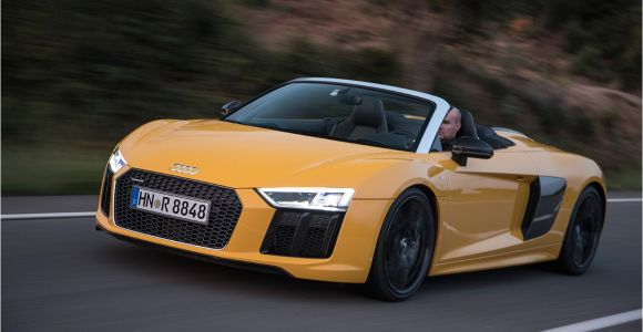 Audi Rx8 Spyder 2017 Audi R8 Spyder First Drive Review Car and Driver
