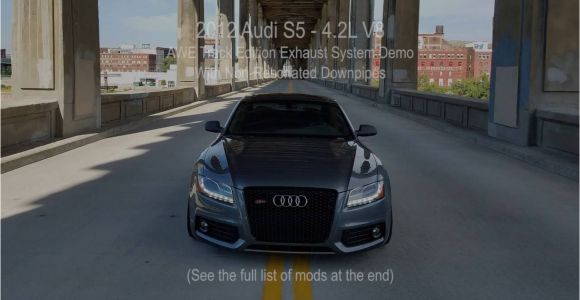 Audi S5 V8 Mods 2012 Audi S5 Takeoff Awe Track Edition Exhaust with Non Resonated
