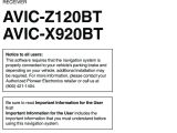 Avic X920bt Wiring Diagram Pioneer K031 Multi Media Avn Navigation Server System with Bt User