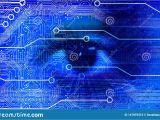 Banner Photo Eye Wiring Diagram Eye Vision Technology Business Banner Blue Background