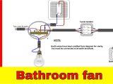 Bathroom Extractor Fan Wiring Diagram How to Wire Bathroom Fan Uk Youtube