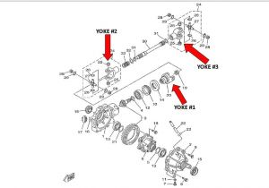 Big Bear 400 Wiring Diagram Cru Products Yamaha Front Of Front Drive Shaft U Joint Yoke 93 99