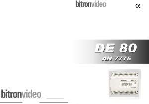 Bitron Intercom Wiring Diagram Pagine Continue 175555 11 An7775