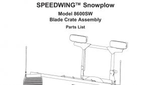 Blizzard Power Plow Wiring Diagram Blizzard Parts List Speedwing Snowplow Plow Side Blade and