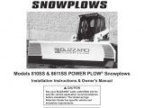 Blizzard Power Plow Wiring Diagram Om Ii Skid Steer Power Plow Snowplow Models 810ss 8611ss