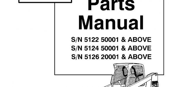 Bobcat 763 Fuel Shut Off solenoid Wiring Diagram Pdf Bobcat 763g Parts Manual Pdf Document
