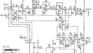 Boss Wiring Diagram Boss Od 1 Overdrive Guitar Pedal Schematic Diagram