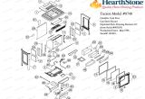 Buck Stove 27000 Wiring Diagram Hearthstone Wood Stoves Parts Diagram Tucson Vf Model 8740