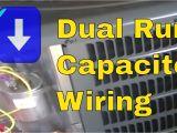 Capacitor Start Capacitor Run Motor Wiring Diagram Hvac Training Dual Run Capacitor Wiring Youtube