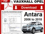 Car Service Repair Manuals and Wiring Diagrams Vauxhall Opel Antara Pdf Service Repair Manual Wiring