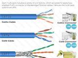 Cat 7 Ethernet Cable Wiring Diagram Amazon Com Mediabridge Cat7 Connector Gold Shielded