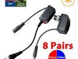 Cat5 Cctv Wiring Diagram Amazon Com Evertech 8 Pairs 16 Pcs Cctv Video Power Balun Bnc to