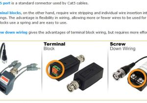 Cat5 Cctv Wiring Diagram Use Of Video Balun and Cat5 Cable for Cctv Cameras Electronics In