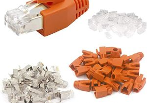 Ce Tech Cat6 Jack Wiring Diagram Vce 20 Sets Cat7 Netzwerkstecker Rj45 Stecker Cat6a Amazon