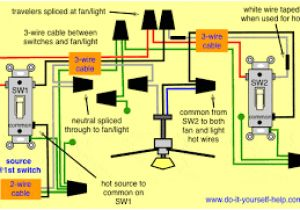 Ceiling Fan Wiring Circuit Diagram Image Result for How to Wire A 3 Way Switch Ceiling Fan with