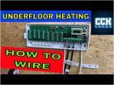 Combi Boiler thermostat Wiring Diagram Plumbing How to Wire Underfloor Heating Wet Underfloor