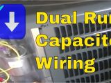 Compressor Capacitor Wiring Diagram Hvac Training Dual Run Capacitor Wiring Youtube