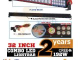 Cree Led Light Bar Wiring Diagram Sunyee 32inch 192w Cree Led Work Light Bar Flood Spot Truck 4wd
