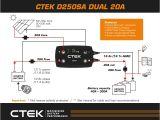Ctek D250s Dual Wiring Diagram the Ctek Dual Battery System Sa 4×4
