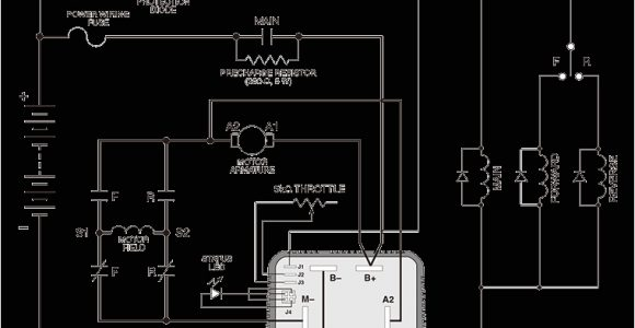 Curtis Speed Controller Wiring Diagram New Curtis 36v 48v 1205m 5603 500a Dc Motor Speed