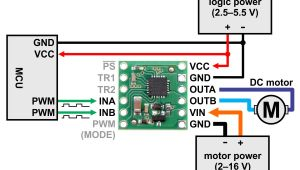 Dc Motor Wiring Diagram Pololu Minimal Wiring Diagram for Connecting A Microcontroller to