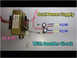 Dc Power Supply Wiring Diagram Dc Dual Power Supply with Voltage Doubler Circuit Ac to