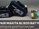 Dewalt 20 Volt Battery Wiring Diagram Repair Makita Bl1830 Battery by Making One Good From Two Bad