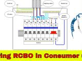 Dual Rcd Consumer Unit Wiring Diagram How to Wire Rcbo In Consumer Unit Uk Rcbo Wiring Youtube
