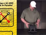 Dual Subwoofer Wiring Diagram Subwoofer Wiring One 4 Ohm Dual Voice Coil Sub In Parallel Youtube
