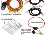 Electric Cooling Fan Wiring Diagram Dual Electric Cooling Fan Wire Harness Kit 185 On 165 Off thermostat 50 Amp Relay New