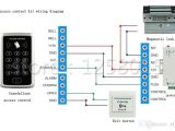 Electromagnetic Door Lock Wiring Diagram Groa Handel Diy 125 Khz Rfid Schwarz Controller Access Control Kit Fur Einzelne Tursteuerung 60 Kg Magnetverschluss Turschalter Power 10