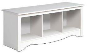 Fisher Storm Guard Plow Wiring Diagram New White Prepac Large Cubbie Bench 4820 Storage Usd 114
