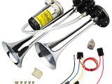 Gampro Air Horn Wiring Diagram 12v 150db Train Air Horn Super Loud 18 Inches Chrome Zinc