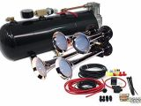 Gampro Air Horn Wiring Diagram Mpc B1 0419 4 Trumpet Train Air Horn Kit Fits Almost Any Vehicle Truck Car Jeep or Suv