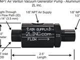 Gast Vacuum Pump Wiring Diagram 2l Inc 1 8 Npt Air Venturi Vacuum Generator Pump Anodized
