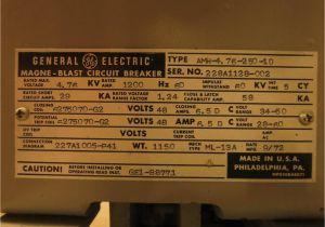 Ge Magne Blast Wiring Diagram Rebuilt Ge Magne Blast Amh 4 76 250 1d 1200a 4 76 Kv 5cy Ml 13a