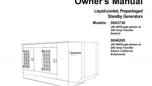 Generac Portable Generator Wiring Diagram Generac Portable Generator 0043736 0046265 User Manual