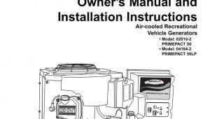 Generac Rv Generator Wiring Diagram Generac 02010 2 04164 2 Portable Generator User Manual