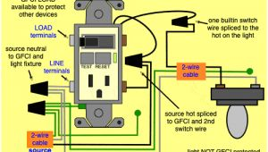 Gfci Switch Combo Wiring Diagram Wiring Diagram Further Wiring A Light Switch and Gfci Outlet