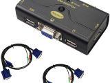 Go Power Transfer Switch Wiring Diagram Vga Kvm Switch 2 Port Bis Zu 2048×1536 Auflosung Mit Usb Hub Fur Pc Oder Montior Switching Per Knopfdruck