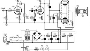 Guitar Amp Wiring Diagram 2w Tube Guitar Amp Schematic
