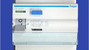 Hager Rccb Wiring Diagram Hager Residual Circuit Breaker Rccb Elcb 63amp 4 Pole 100ma