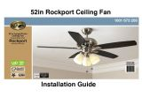 Hampton Bay Ceiling Fans Wiring Diagram How to Install the Hampton Bay 52 Rockport Ceiling Fan